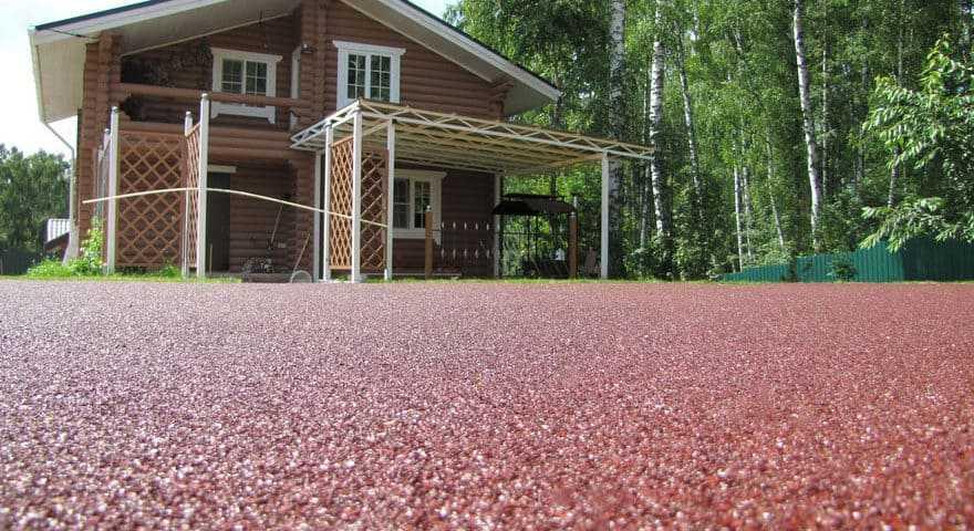 Резиновое покрытие для двора частного дома от 730 ₽/м2