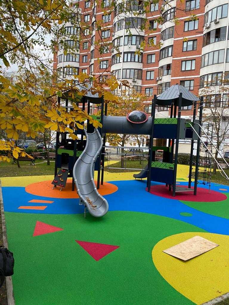 Резиновое покрытие детских площадок от 730 ₽/м2