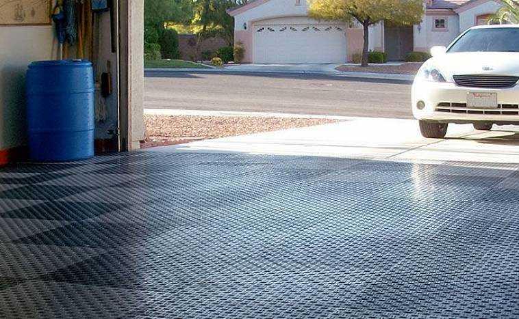покрытие плиткой для гаража