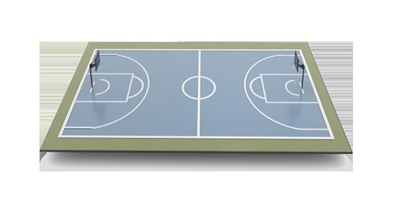площадка для игры в баскетбол