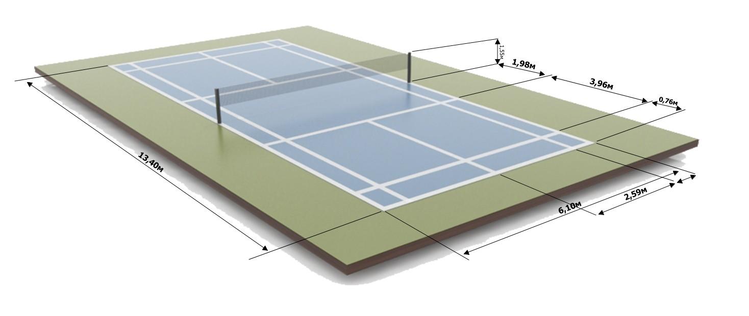 разметка площадки для игры в бадминтон