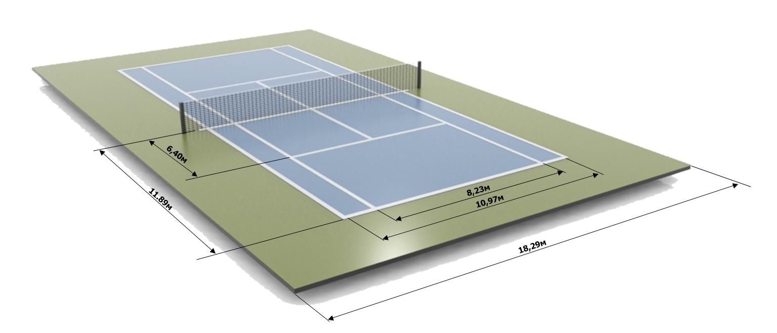 разметка теннисного корта