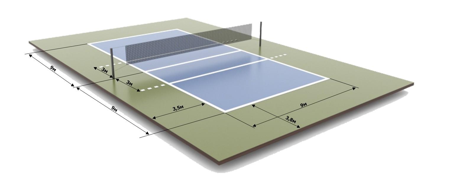 разметка волейбольной площадки