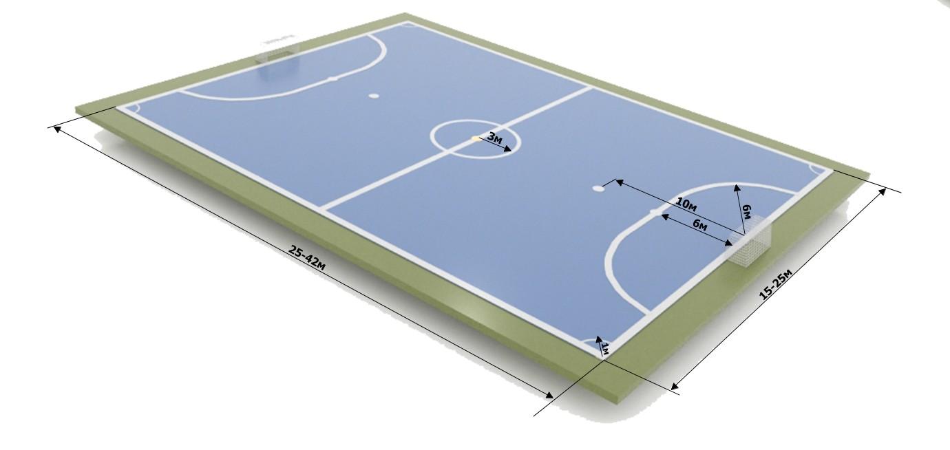 разметка мини-футбольного поля