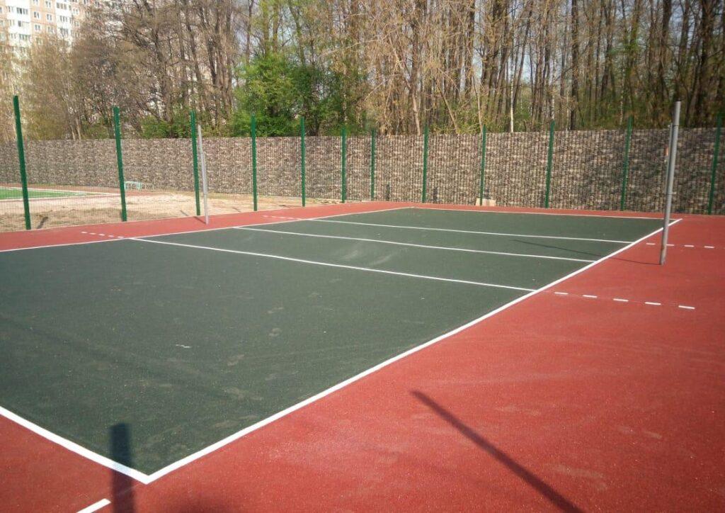 резиновое покрытие для волейбольной площадки